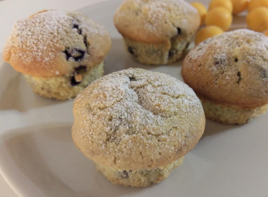 Cream Cheese Blueberry Frischkäse Heidelbeer Muffins Tintentick 2