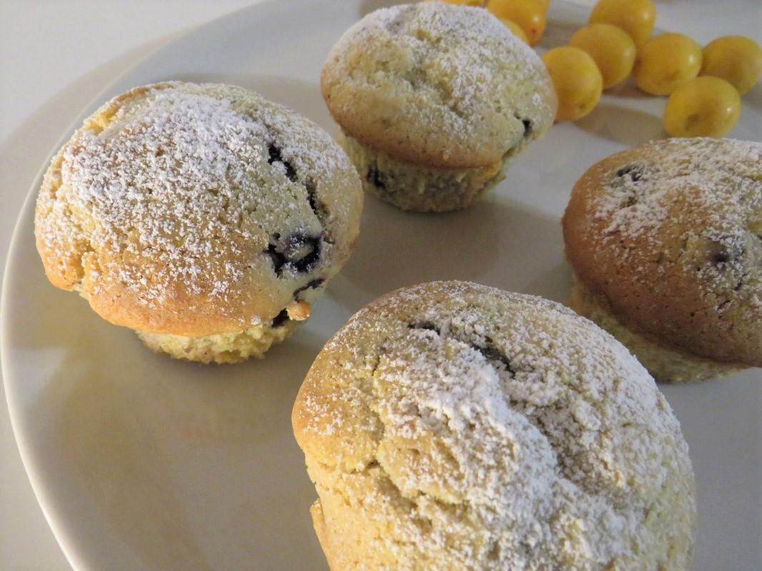 Cream Cheese Blueberry Frischkäse Heidelbeer Muffins Tintentick Rezept