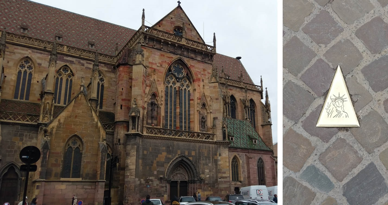 Kirche Wegweiser Colmar Foto 2019 Tagesausflug Tintentick